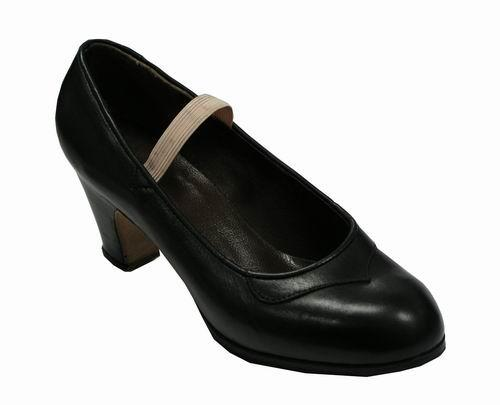 Gallardo - Flamenco Dance Shoes: model Salon Style Shoes in Leather