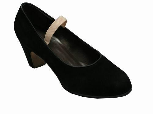 Gallardo. Flamenco Dance Shoes: model Salon Style Shoes in Suede