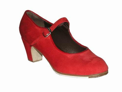 Gallardo - Flamenco Dance Shoes: model Mercedes Style Shoe in Suede