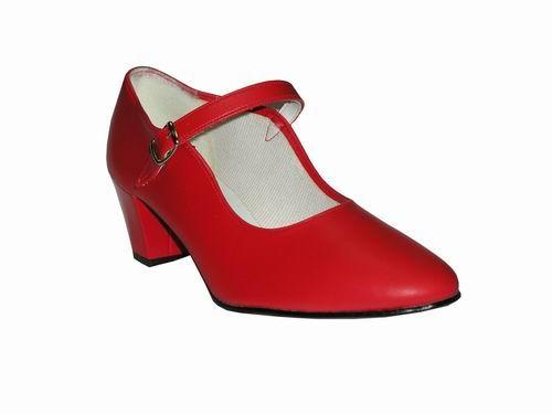 Red Flamenco Dance Shoes