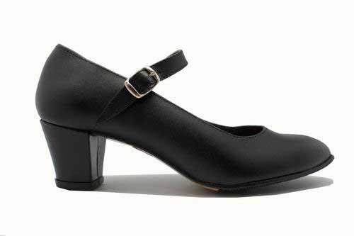 Amateur leather Shoes for Flamenco Dance with nailed sole and strap
