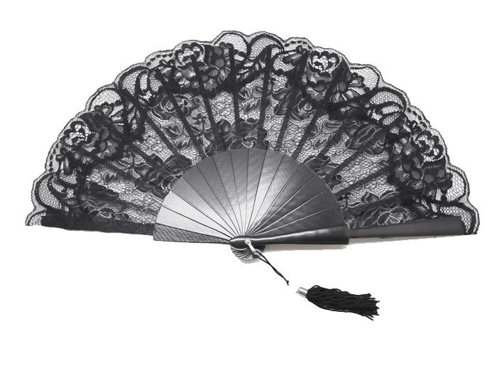 Black Lace Fan for Ceremony. Ref. 1311