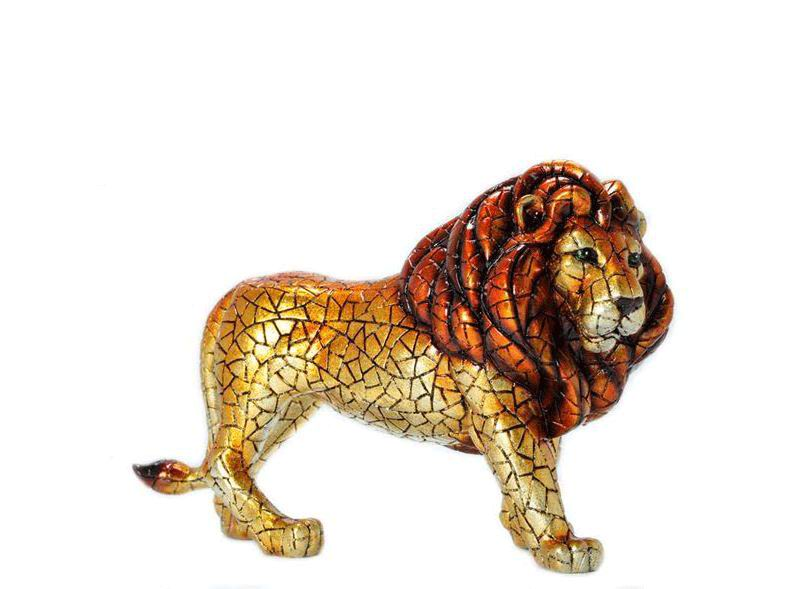 Golden Mosaic Carnival Lion by Barcino. 40cm