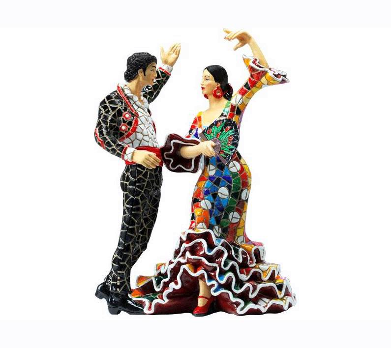 Mosaic Flamenco Bailaores Couple
