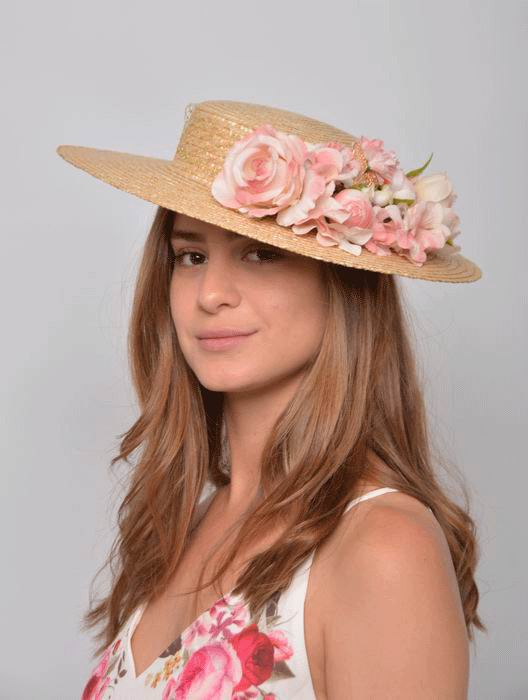 Straw boater for Women