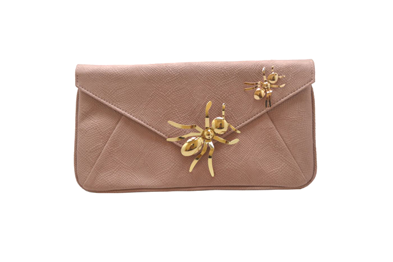 Rosewood Clutch with Metallic Ants