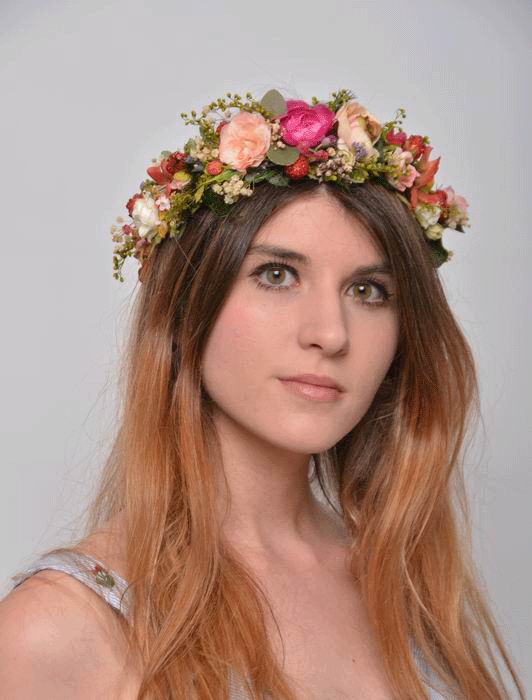 Floral Crown Valeria. Preserved Flowers. Spring