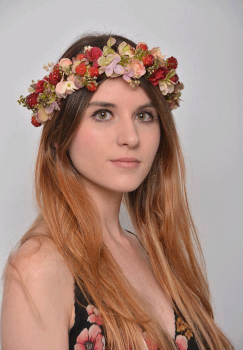 Floral Crown Isabela. Preserved Flowers. Summer