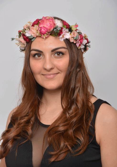 Floral Crown Leticia. Preserved Flowers Bohemian Style