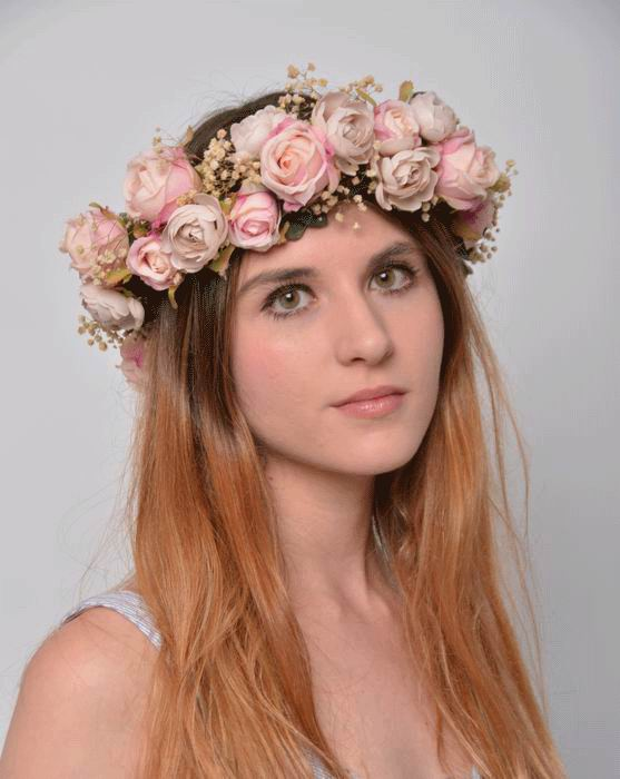 Floral Crown Helena. Preserved Flowers. Romantic