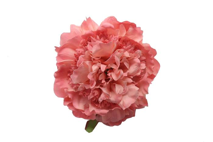 Flamenco Peony Flower in Pink Shades. 16cm