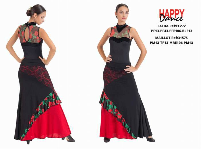 Happy Dance. Woman Flamenco Skirts for Rehearsal and Stage. Ref. EF272PF13PF43PFE106BLE13