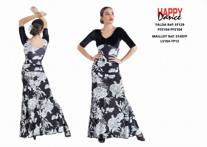 Happy Dance. Flamenco Skirts for Rehearsal and Stage. Ref. EF129PFE104-PFE104