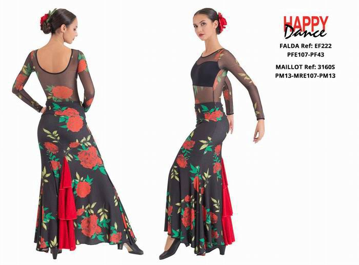 Conjuntos de flamenco para Adulto. Happy Dance.Ref. EF222PFE107PF43-3160SPM13MRE107PM13