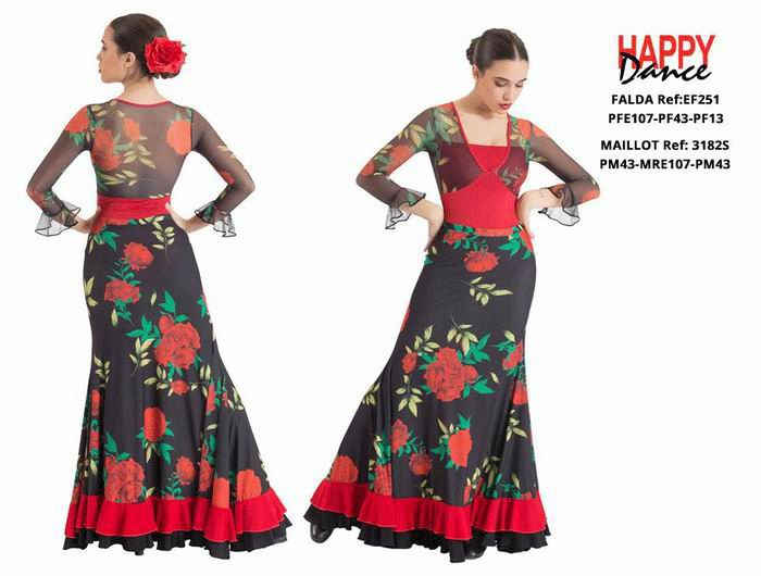 Flamenco Outfit for Women by Happy Dance. Ref. EF251PFE107PF43PF13-3182SPM43MRE107PM43
