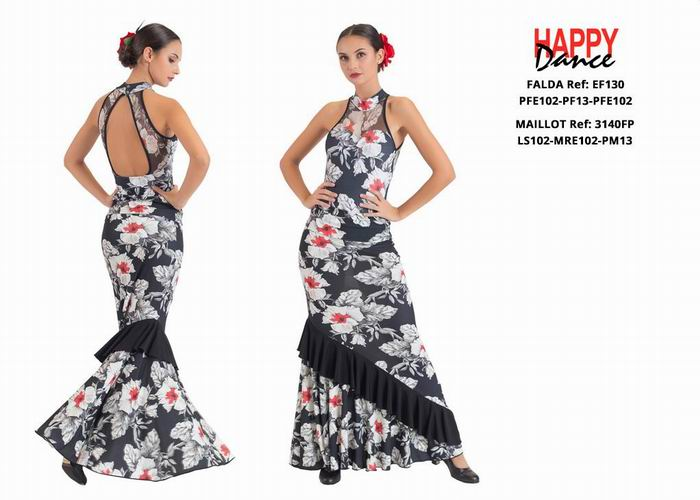 Happy Dance. Flamenco Skirts for Rehearsal and Stage. Ref. EF130-PFE102-PF13-PFE102