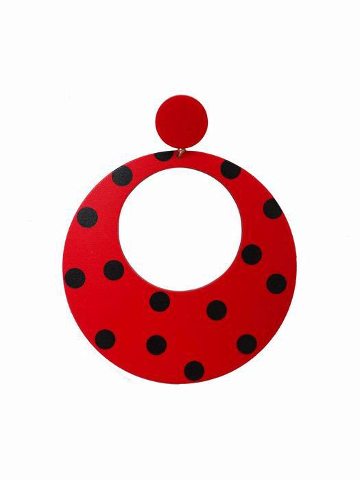 Flamenca Maxi hoops with black polka dots