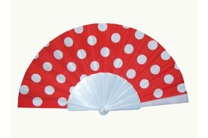 Flamenco fan with polka dots