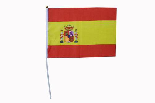 Club flag of the Spanish flag. Pack of 24 units. 42 x 31 cm