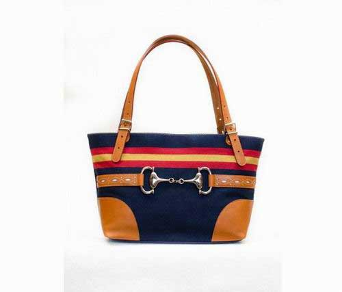 Blue Handbag with Spanish Flag and Stirrup