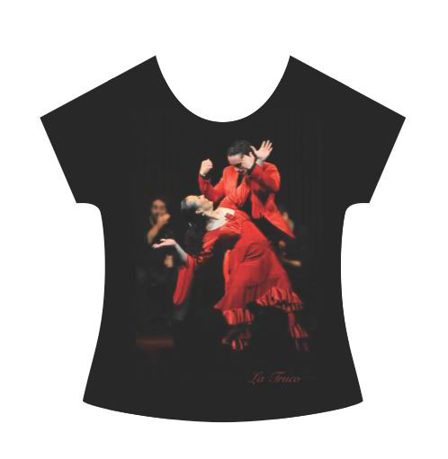 La Truco Flamenco Dancer T-Shirt. Red Dress