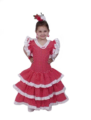 Flamenco Dress for Girl- Model: Eco feston