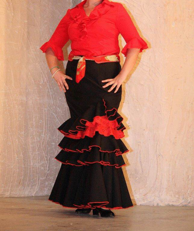 Black and Red Skirt for El Rocio