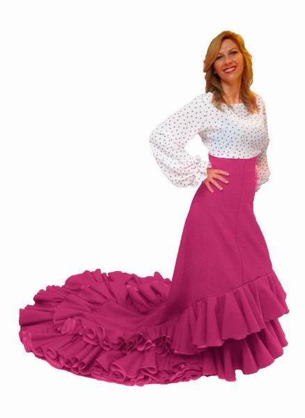 fd137cf90 Falda de Cola para Ensayo - FlamencoExport