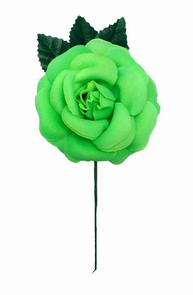 Medium Plain Pistachio Green Flower CH. Fabric Flower. 9cm