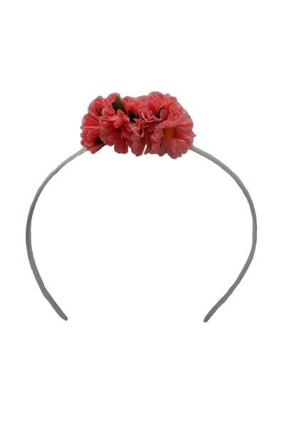 Diadem With Bright Pink Daisies for Little Girl. 6cm