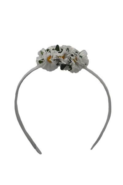 Diadem With White Daisies for Little Girl. 6cm