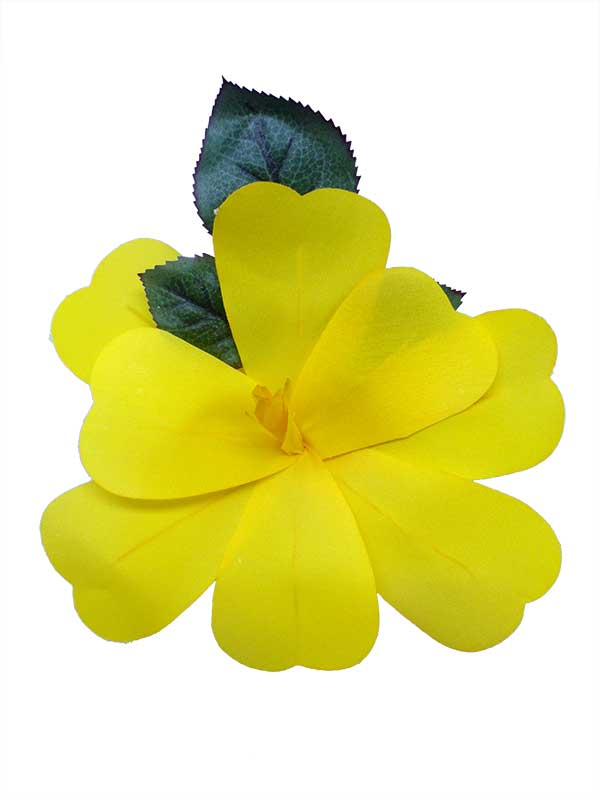 Flamenco Flower for Hair. Yellow Artesana. 17 cm