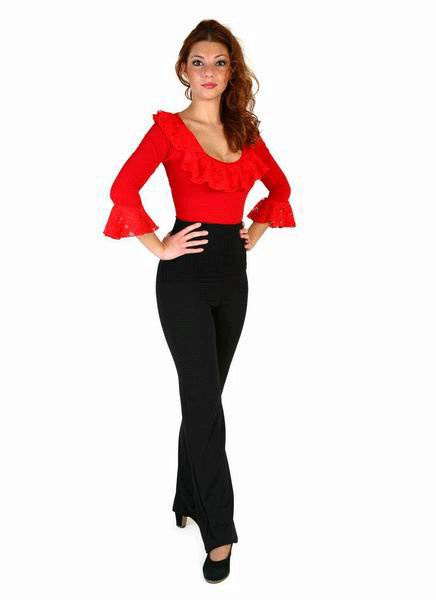 Cotton With Lycra Straight Flamenco Pants