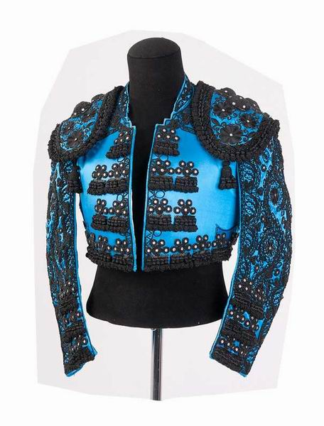 Authentic bullfighter costume. Blue and Black