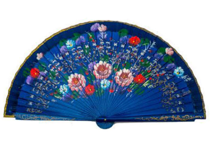 Fretwork Fan and Painted by Two Faces. ref 1157