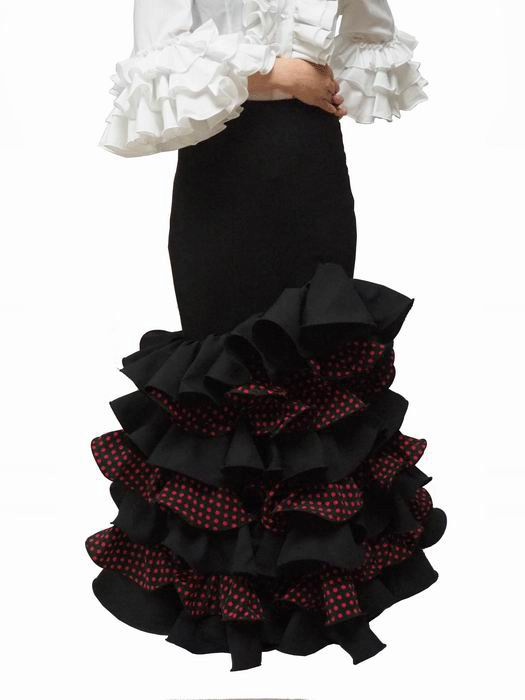 Lightweight Rociera Skirts for Romerias with Ruffles and Polka Dots