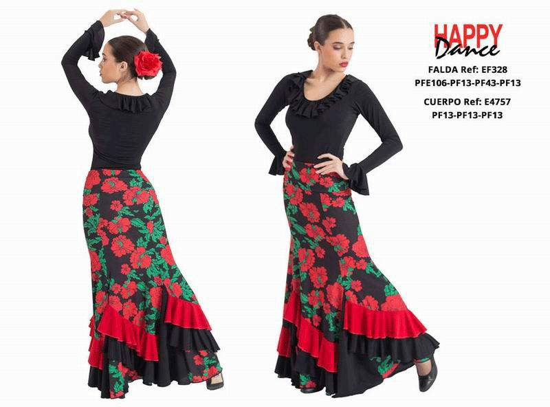 Happy Dance. Flamenco Skirts for Rehearsal and Stage. Ref. EF328PFE106PF13PF43PF13