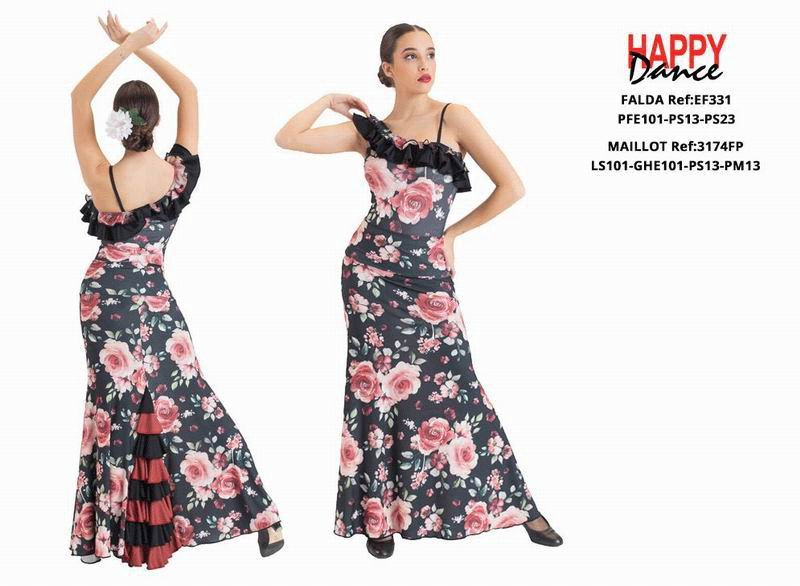 Happy Dance. Flamenco Skirts for Rehearsal and Stage. Ref. EF331PFE101PS13PS23