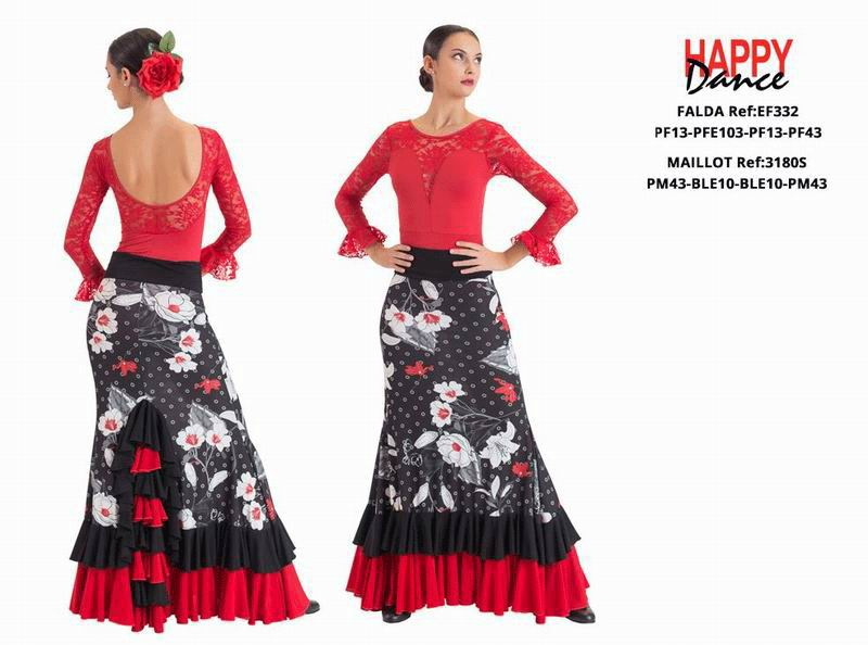 Happy Dance. Flamenco Skirts for Rehearsal and Stage. Ref. EF332PF13PFE103PF13PF43