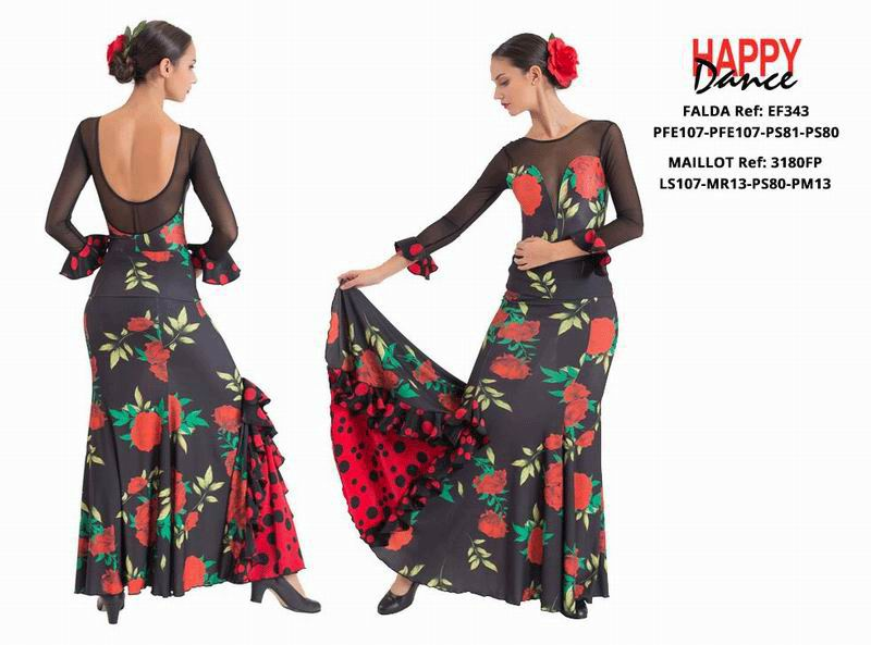 Happy Dance. Woman Flamenco Skirts for Rehearsal and Stage. Ref. EF343PFE107PFE107PS81PS80