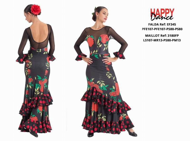 Happy Dance. Flamenco Skirts for Rehearsal and Stage. Ref. EF345PFE107PFE107PS80PS80