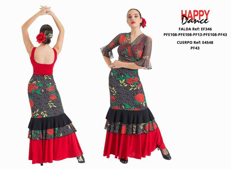 Happy Dance. Woman Flamenco Skirts for Rehearsal and Stage. Ref. EF346PFE108PFE108PF13PFE108PF43