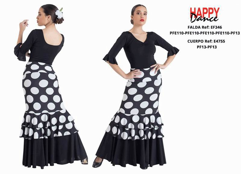 Happy Dance. Flamenco Skirts for Rehearsal and Stage. Ref. EF346PFE110PFE110PFE110PFE110PF13