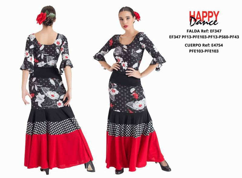 Happy Dance. Flamenco Skirts for Rehearsal and Stage. Ref. EF347PF13PFE103PF13PS60PF43