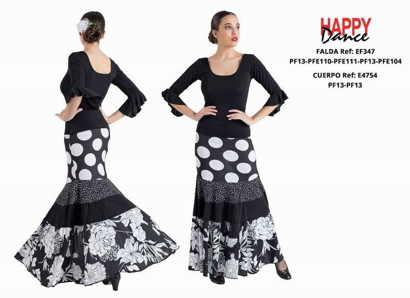 Happy Dance. Woman Flamenco Skirts for Rehearsal and Stage. Ref. EF347PF13PFE110PFE111PF13PFE104