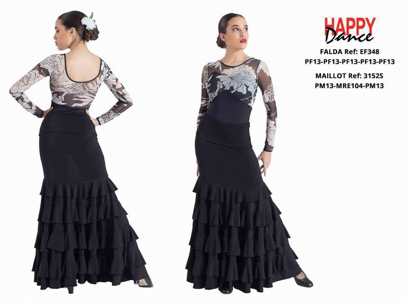 Happy Dance. Flamenco Skirts for Rehearsal and Stage. Ref. EF348PF13PF13PF13PF13PF13