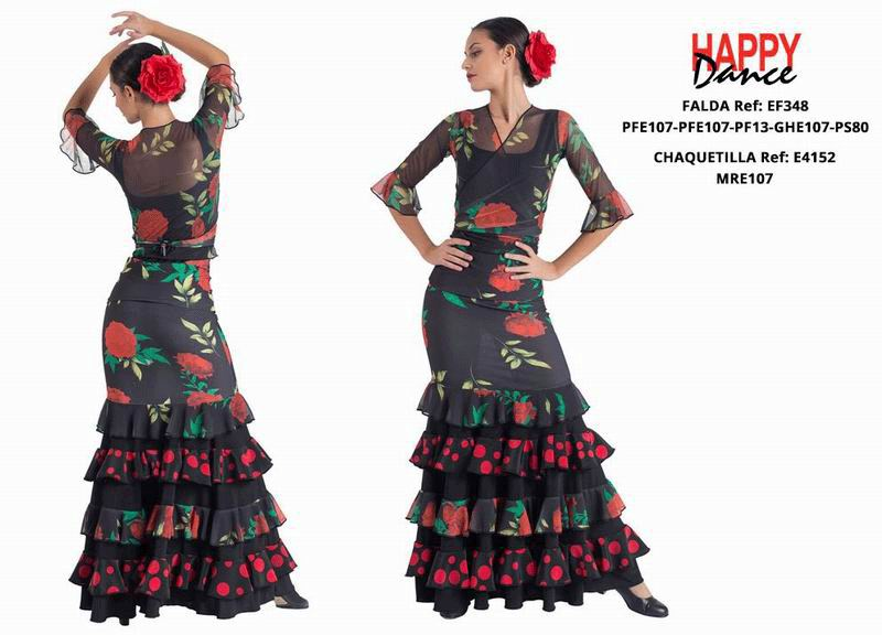 Happy Dance. Flamenco Skirts for Rehearsal and Stage. Ref. EF348PFE107PFE107PF13GHE107PS80