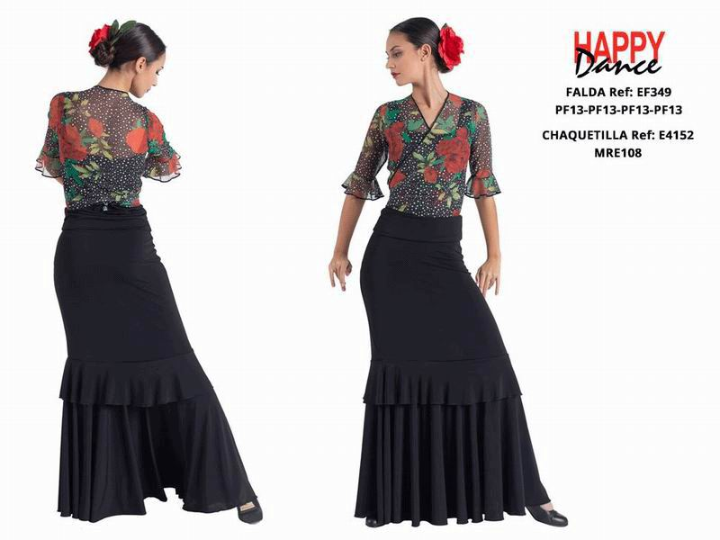 Happy Dance. Woman Flamenco Skirts for Rehearsal and Stage. Ref. EF349PF13PF13PF13PF13