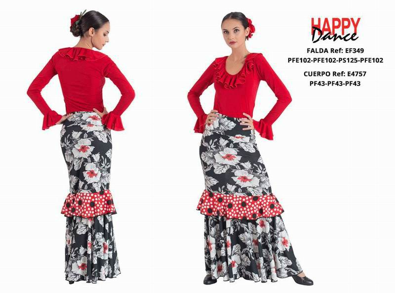 Happy Dance. Woman Flamenco Skirts for Rehearsal and Stage. Ref. EF349PFE102PFE102PS125PFE102
