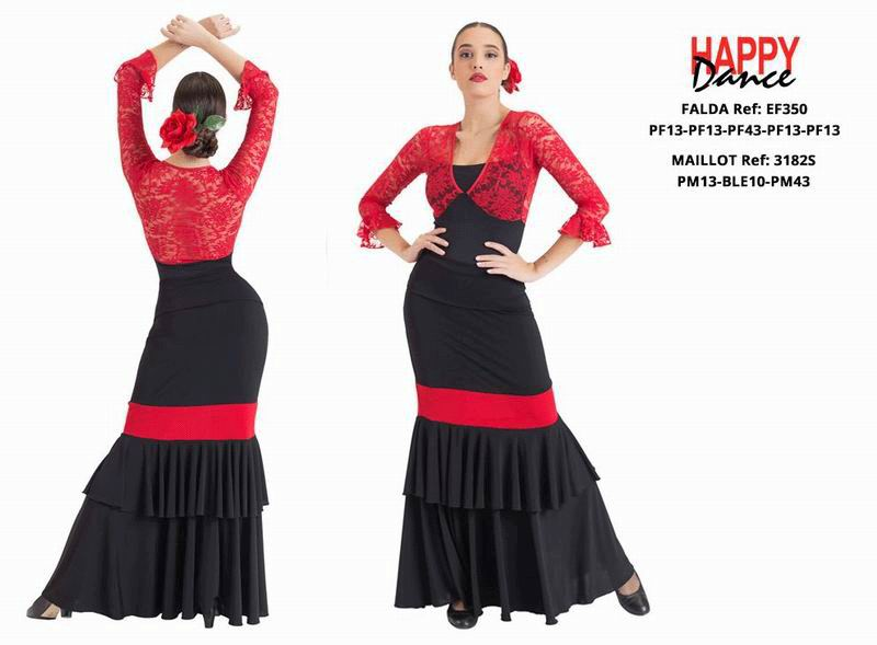 Happy Dance. Flamenco Skirts for Rehearsal and Stage. Ref. EF350PF13PF13PF43PF13PF13
